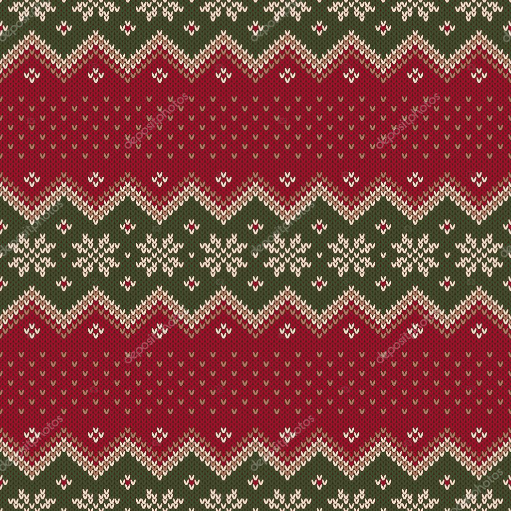 Traditional Christmas Sweater Design. Seamless Pattern — Stock Vector