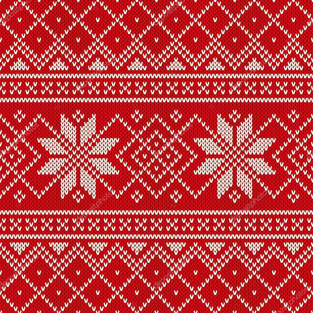 Christmas Sweater Design. Seamless Knitting Pattern — Stock Vector ...