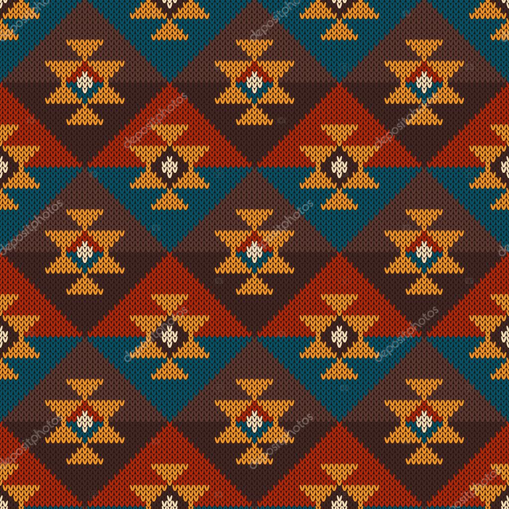 Tribal aztec seamless pattern on the wool knitted texture stock tribal aztec seamless pattern on the wool knitted texture stock vector dt1010fo