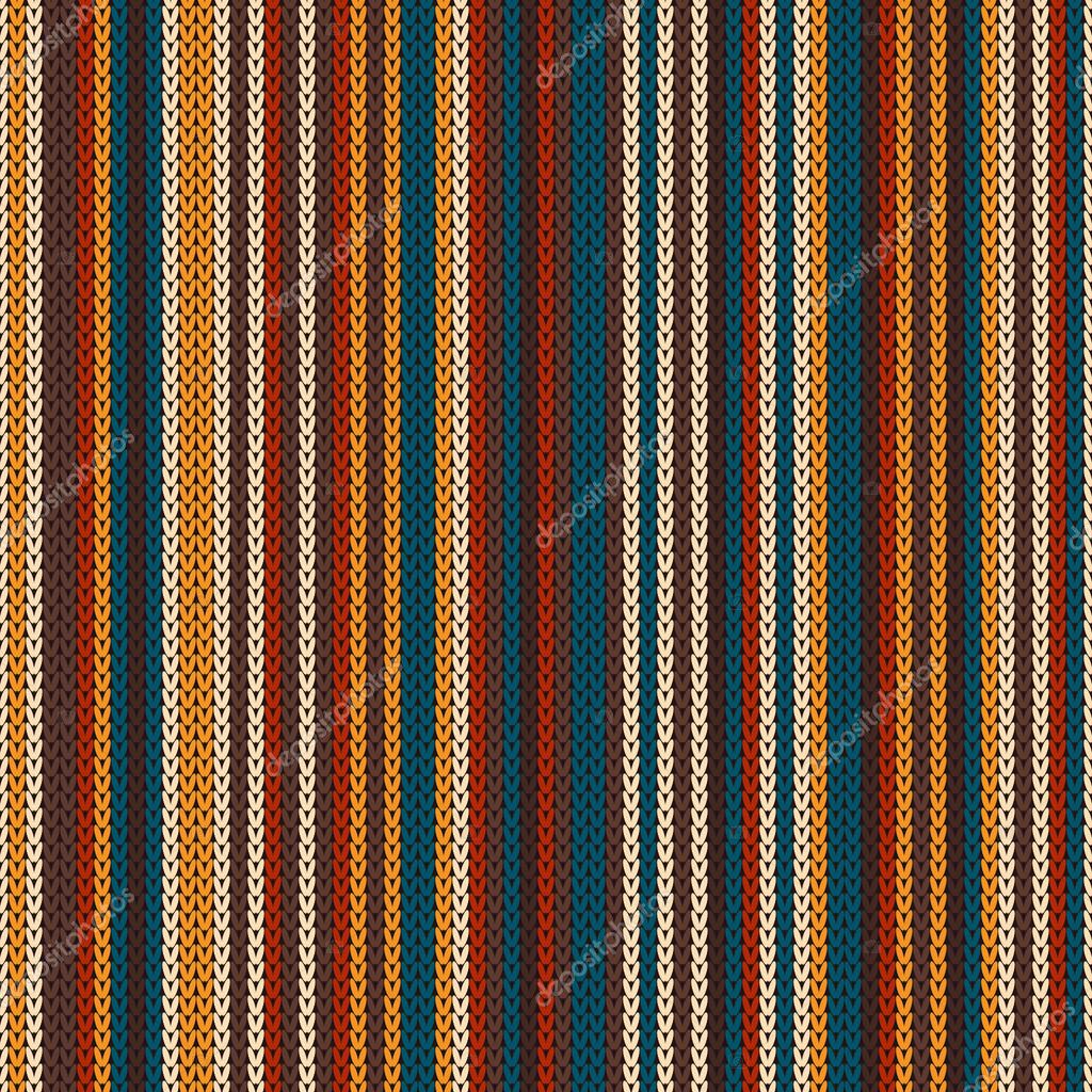 Striped Colourful Knitting Pattern. Seamless Background — Stock ...