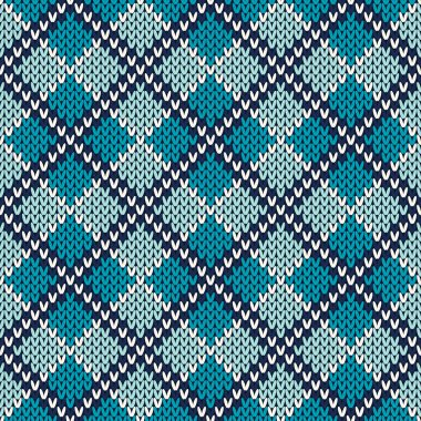 Argyle Knitted Pattern. Seamless Vector Background