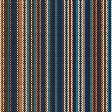 Striped Knitting Pattern. Seamless Background