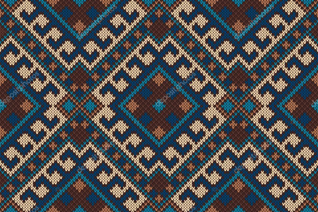 Traditional Tribal Aztec Pattern Seamless Knitting Ornament Stock