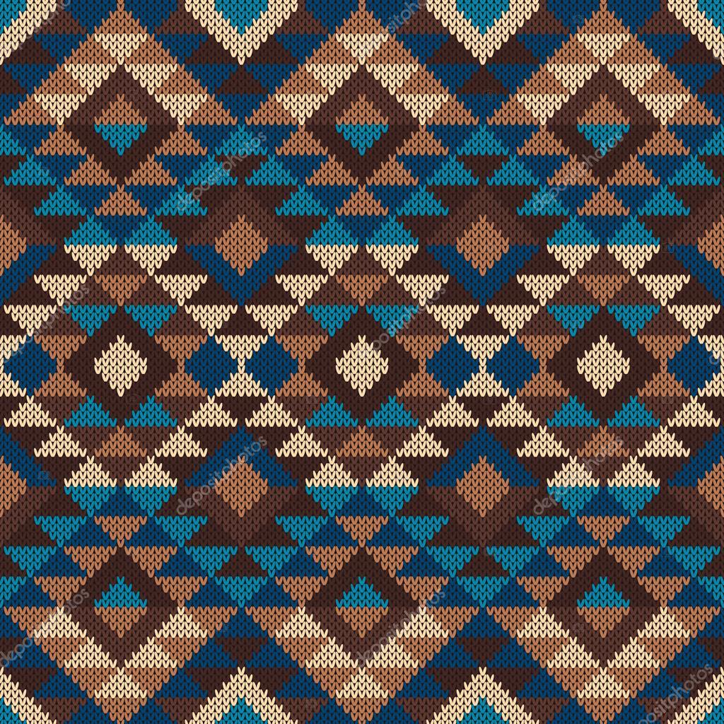 Modelo Azteca Tribal tradicional. Ornamento de tejer sin costuras ...