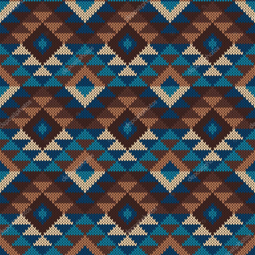 Traditional Tribal Aztec Pattern. Seamless Knitting Ornament — Stock ...