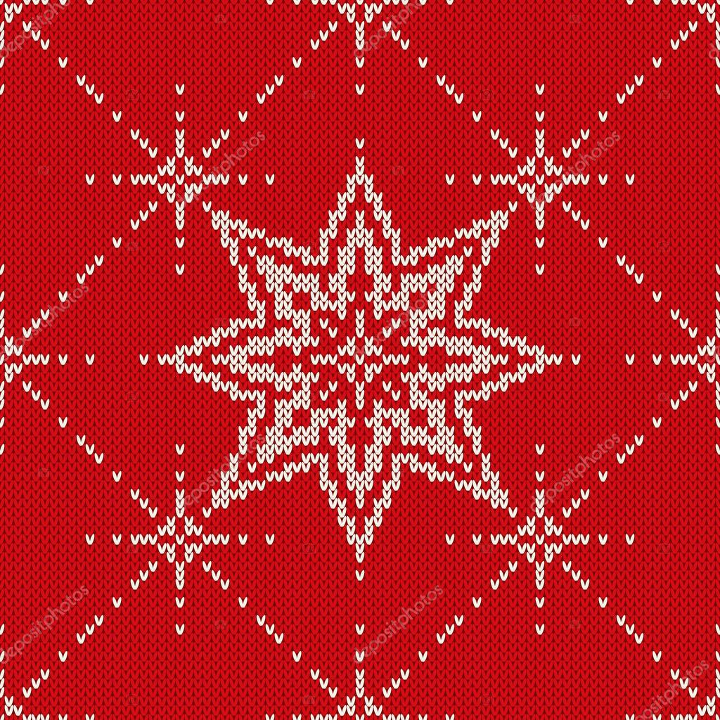 Diseño del suéter de Navidad. Patrón de punto sin costuras con ...