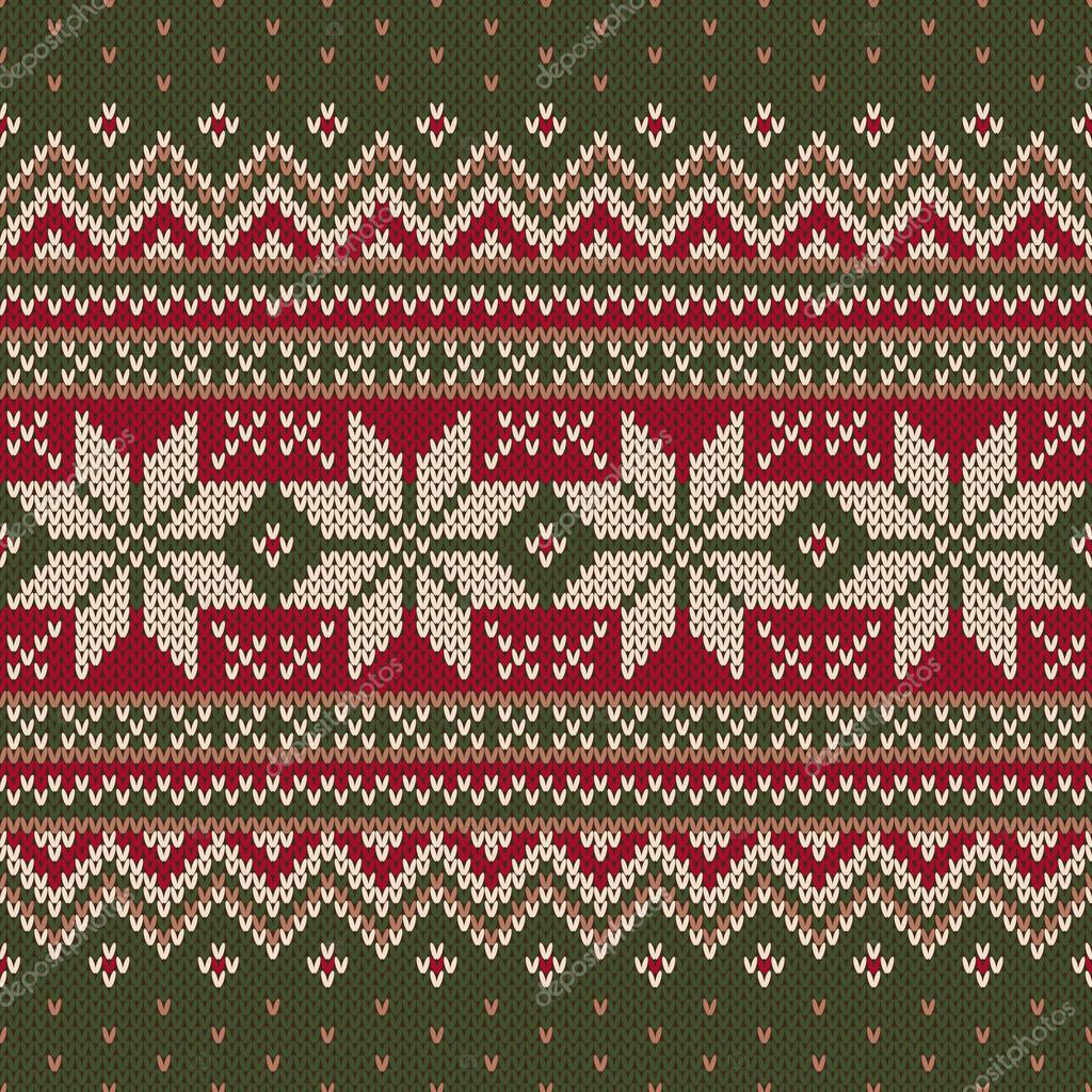 Kersttrui V En D.Traditionele Kerst Trui Ontwerpen Naadloos Gebreide Patroon