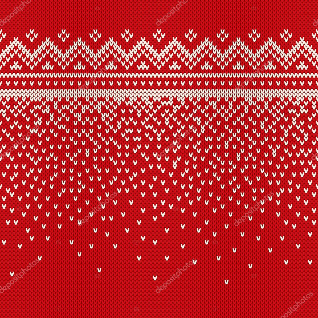 7b5c9579f3c7 Christmas Sweater Design. Seamless Knitted Pattern — Stock Vector ...