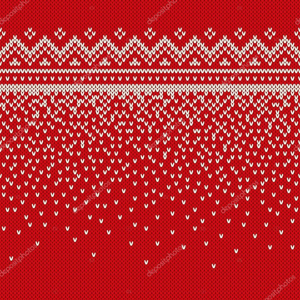 V En D Kersttrui.Kerst Trui Ontwerpen Naadloos Gebreide Patroon Stockvector