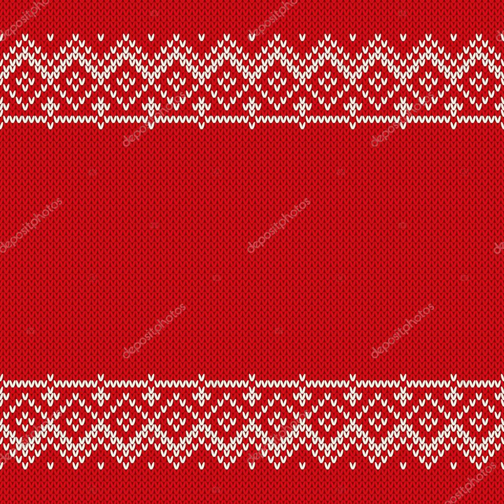 98353b0a9 Christmas Sweater Design. Seamless Knitted Pattern — Stock Vector ...