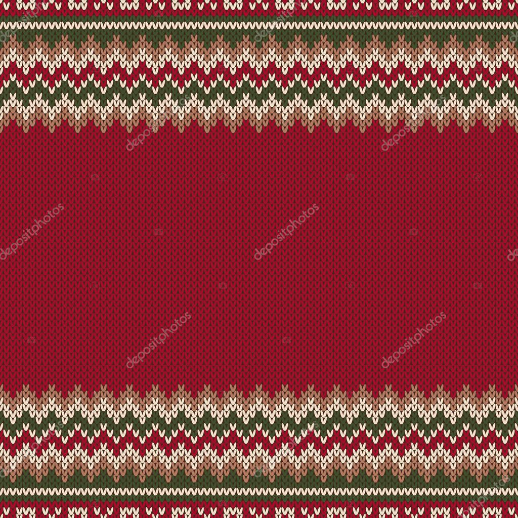 Traditional Fair Isle Knitted Sweater Style Pattern with a Place