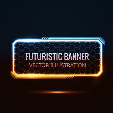 Rectangular futuristic banner