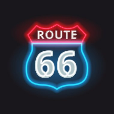 Route 66 neon banner