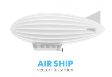 White air ship isolated