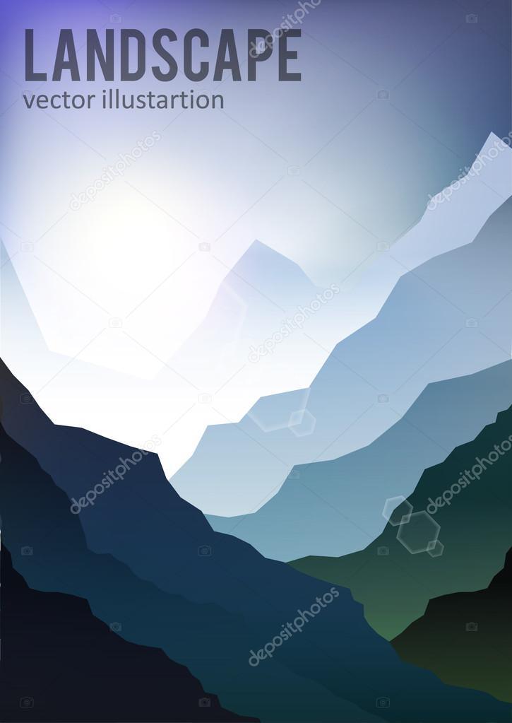 Landscape mountain background