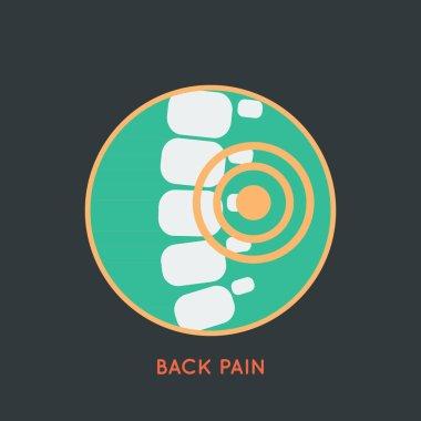 BACK PAIN logo vector