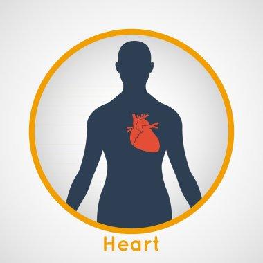 Human heart logo vector