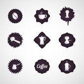 Kávový logo design ikony vektor