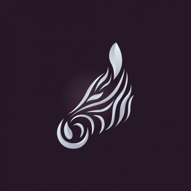 Zebra logo vector