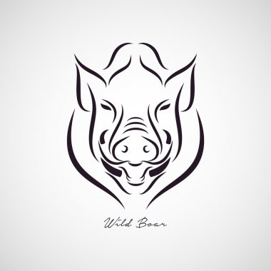 Wild boar logo vector