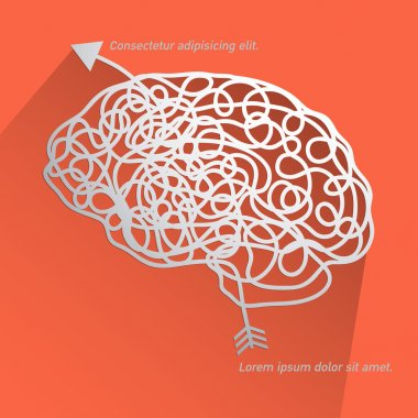 Brain  background vector