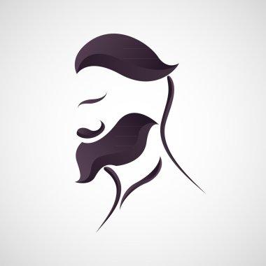 hipster man logo vector
