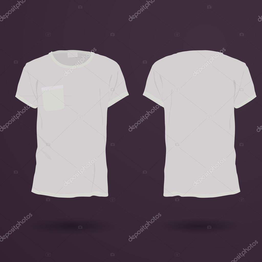 Leere T-shirt-Vorlage. Vorne und bac — Stockvektor ...