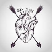 Fotografia Cuore del tatuaggio logo vettoriale