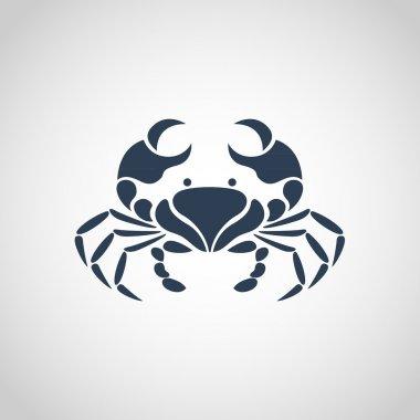 crab logo vector
