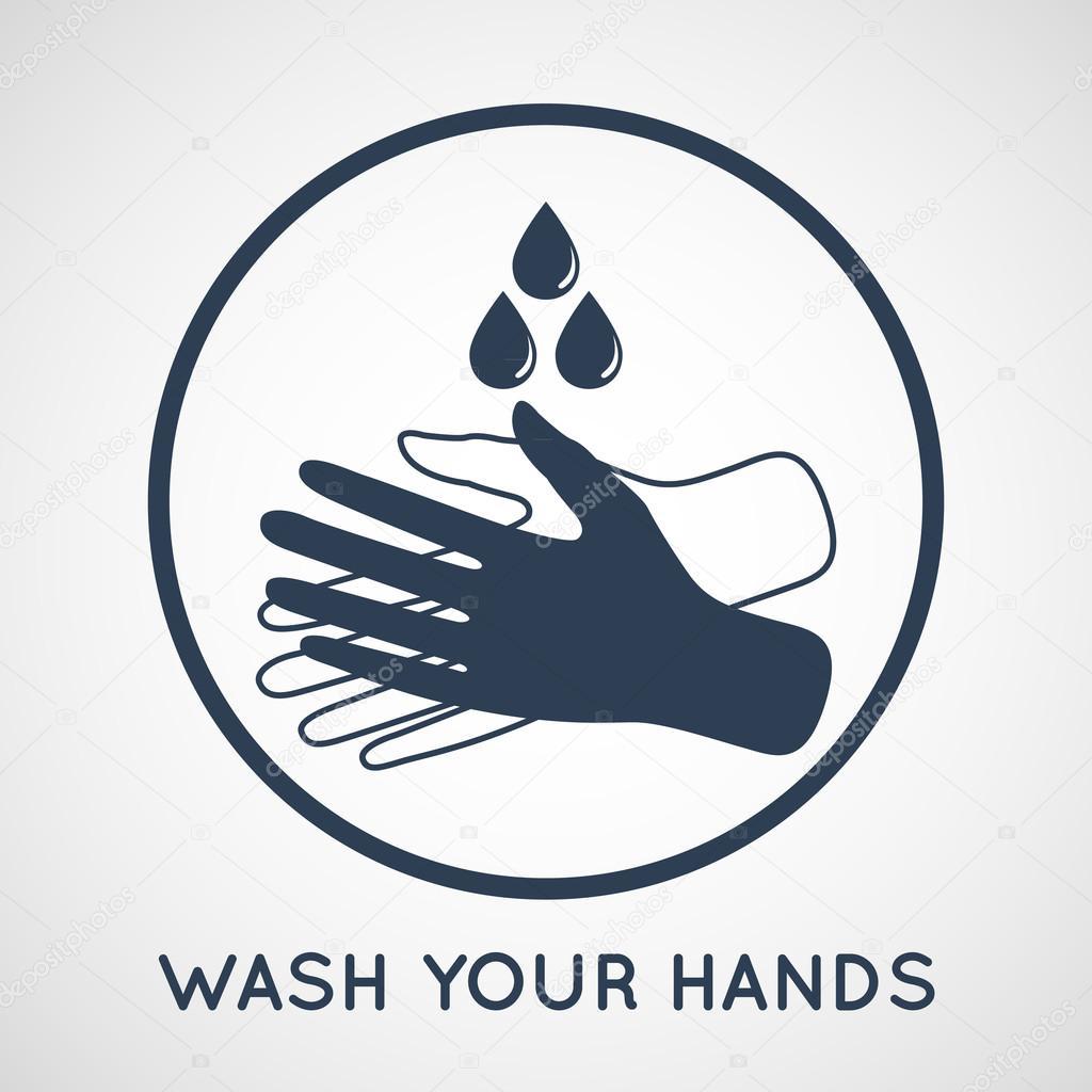 Wash Your Hands Symbol Stock Vector Ilovecoffeedesign 78008380