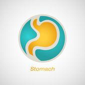 Šablona návrhu vektorové logo žaludku