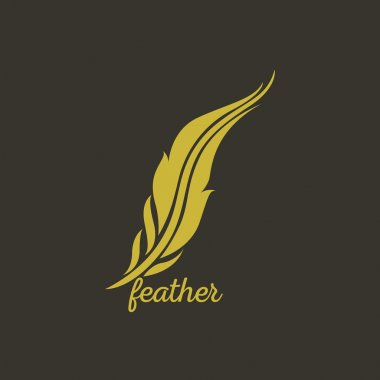 feather logo vector
