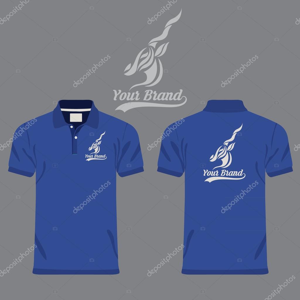 64128992f398 Χρώμα ανδρών πόλο μπλουζάκια — Διανυσματικό Αρχείο ...