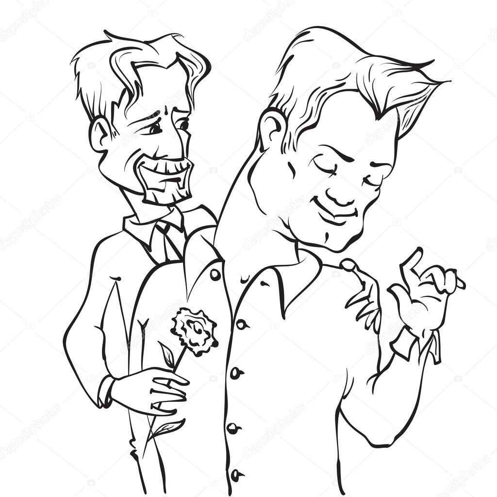 pareja de gays — Vector de stock © dvo #69462305