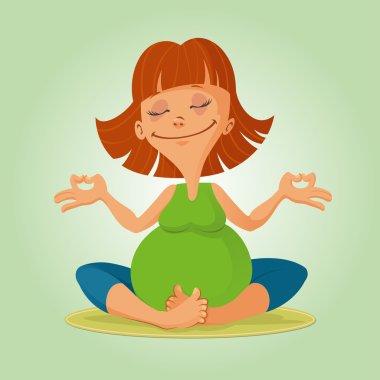illustration of prenatal yoga