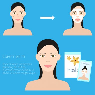 Skin problems Vector illustration