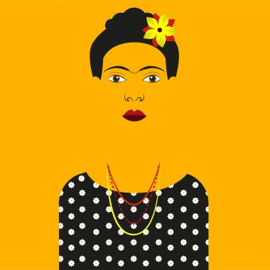 Frida Kahlo Vector illustration