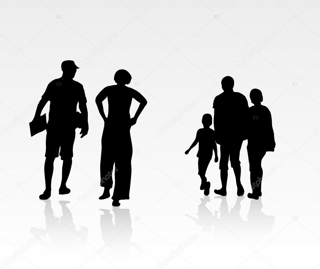 Immagini Sagome Persone.Illustrazione Persone In Piedi Sagome Di Persone A Piedi
