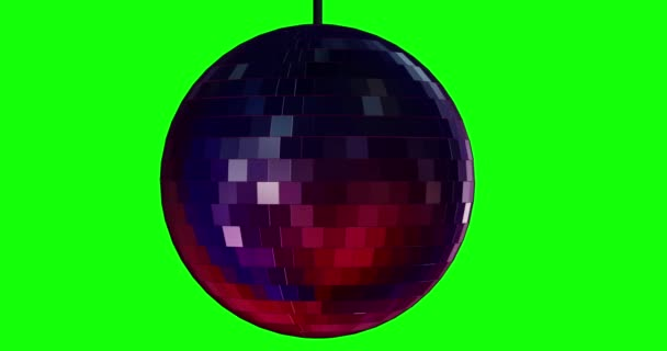 Disco koule animace pozadí chromakey smyčka
