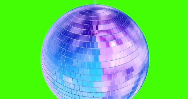 Disco ball animáció háttér chromakey hurok