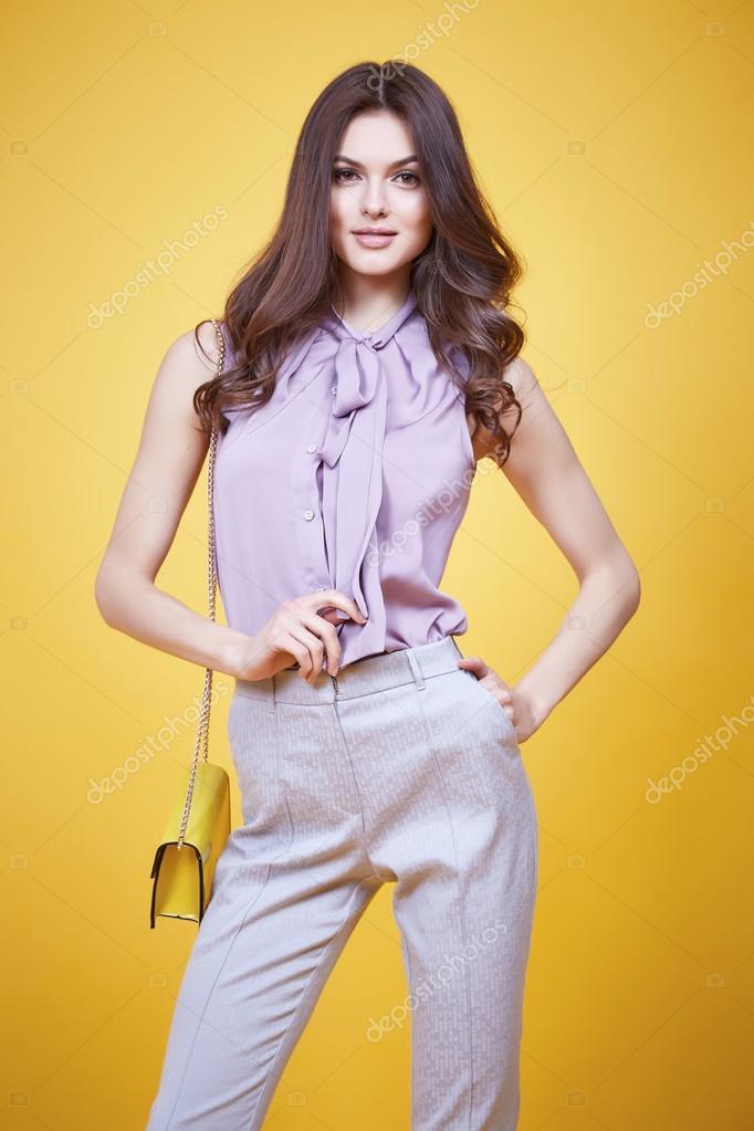 Frau Kleidung Mädchen sexy Glamour Mode Stil Kollektion — Stockfoto ...