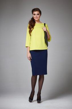 Business woman evening makeup clothes for meetings and walks