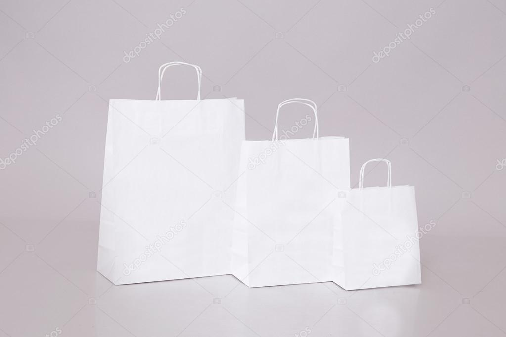 White paper bag shopping sale discount shop and store