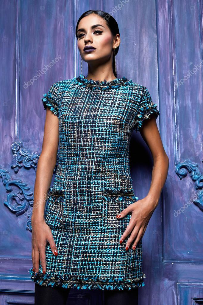 Sexy Frau Kleid Anzug Sammlung Bussines Partei Mode-Stil — Stockfoto ...