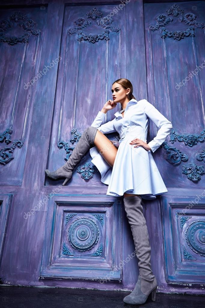 Estilo de la moda mujer sexy vestido de traje colección bussines ...