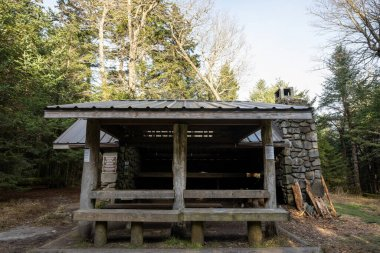 Front Porch of Mount Collins Shelter along the Appalachian Trail in Great Smoky Mountains National Park