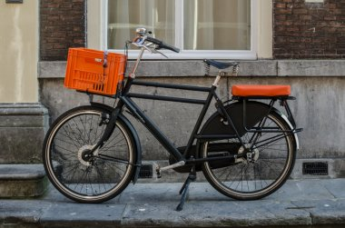 Bicycle with Orange Accents