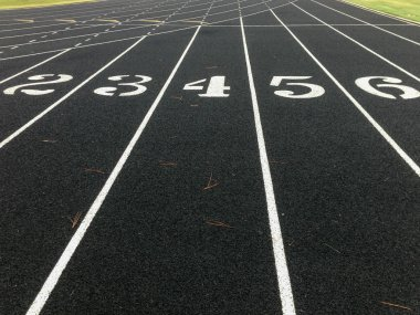 Track Lane Numbers