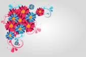 barevné květinové pozadí