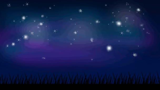 Éjszakai égbolt animáció